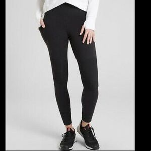 Athleta Excursion Ribbed Ankle Tights Leggings